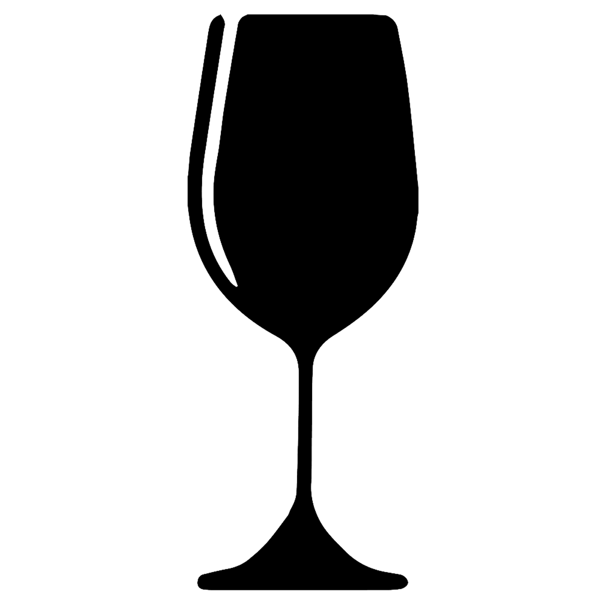 Free files icons and. Silhouette clipart wine glass