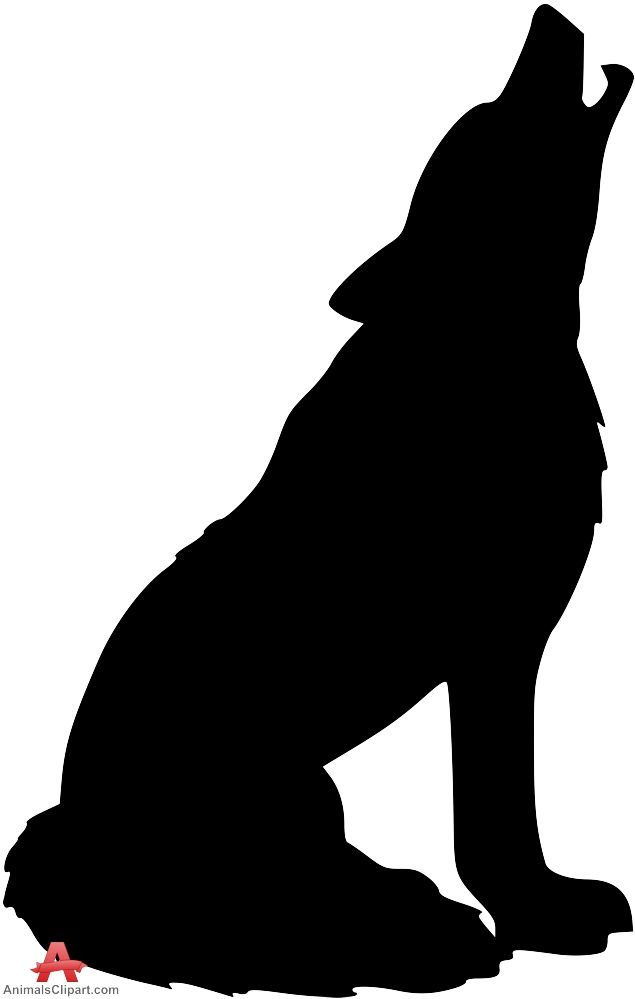 Howling free design download. Wolf clipart silhouette