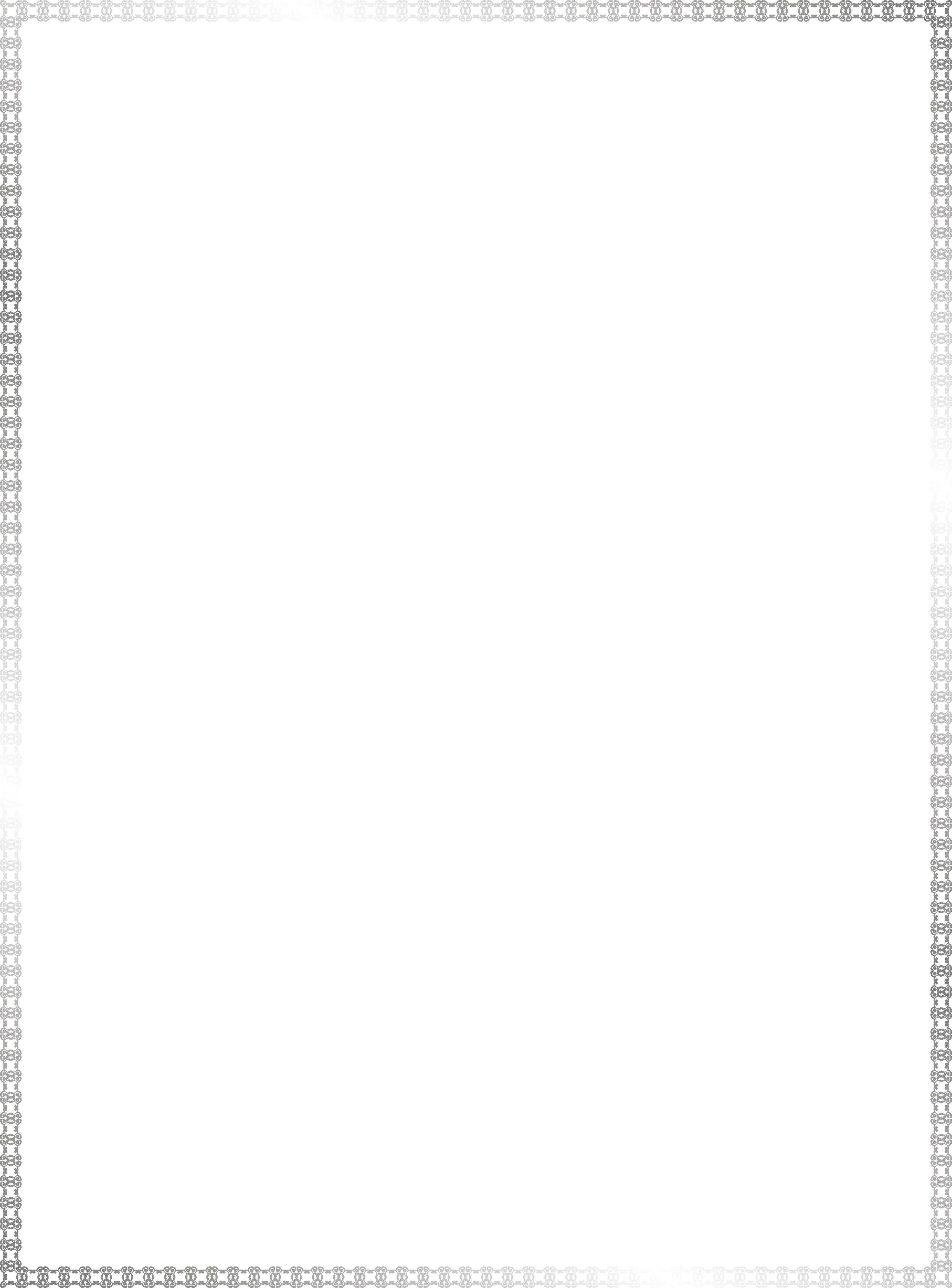 Silver border png. White textile black pattern