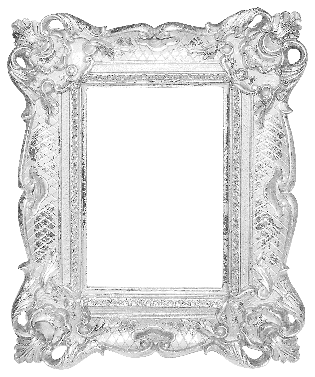 Silver frame png. Picture mirror pattern transprent