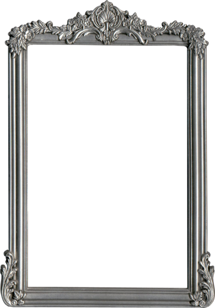Silver frame png. Psd official psds