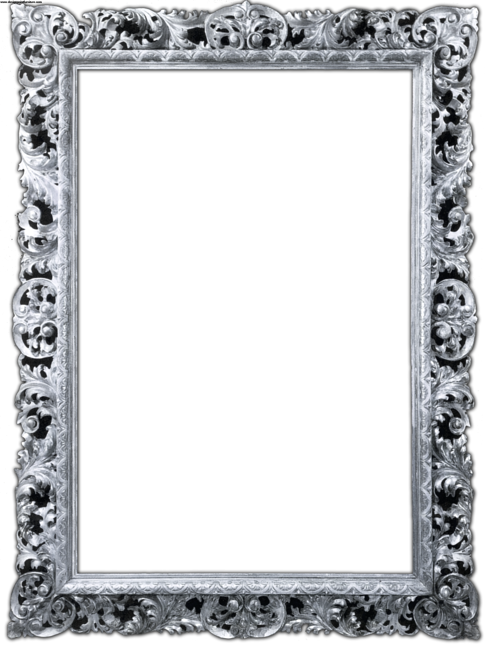 Silver frame png. Ornate cl ic picture