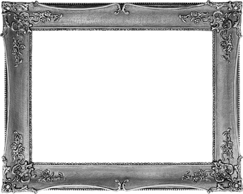 Gallery inspire hair silverframe. Silver picture frame png
