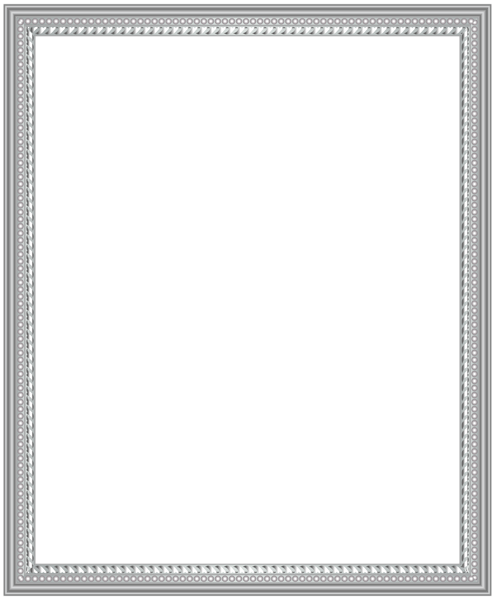 Silver picture frame png. This image deco clip