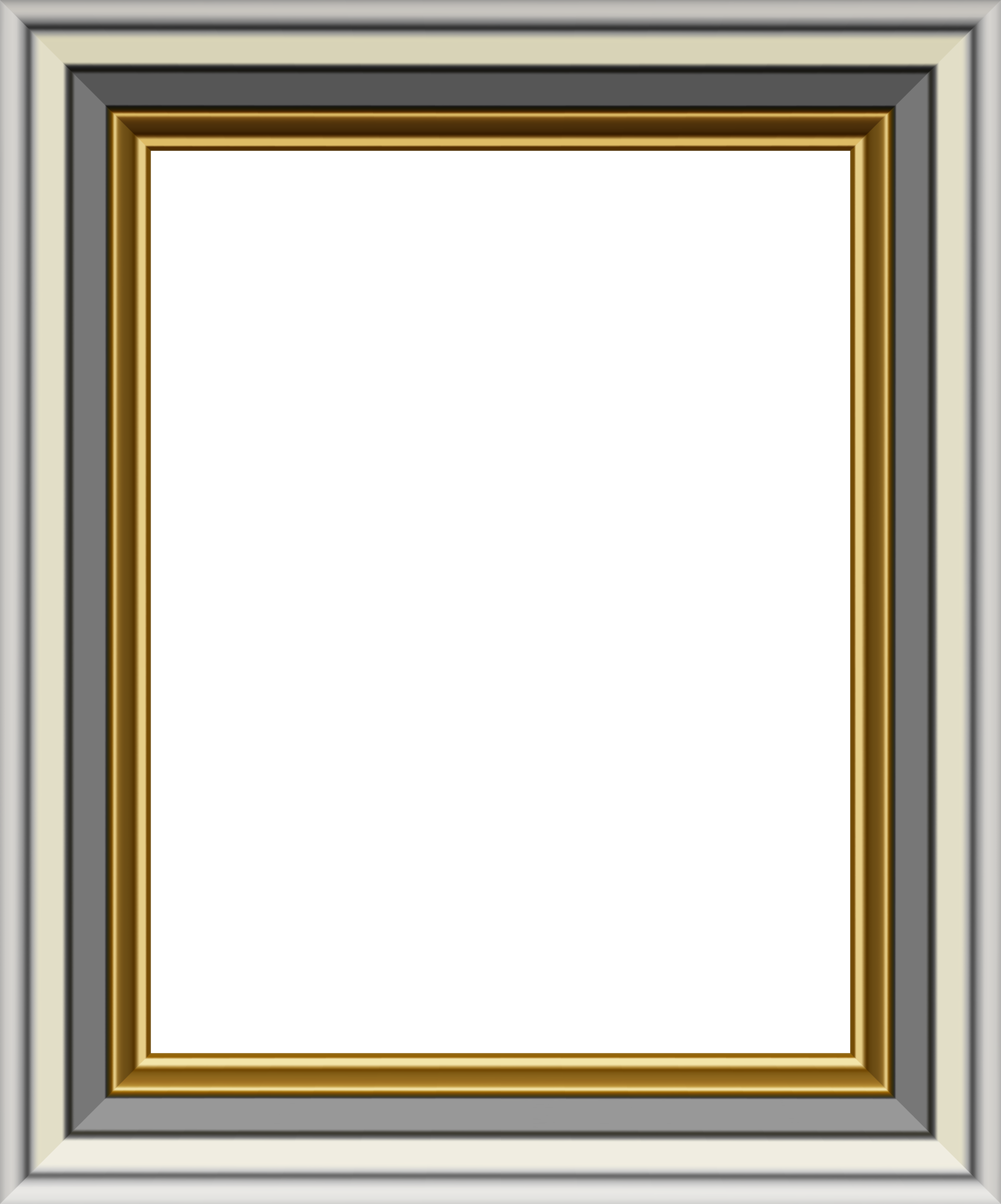 Silver picture frame png. Gold and transparent image