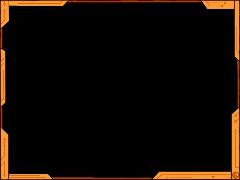 Futuristic design ver orange. Simple border png