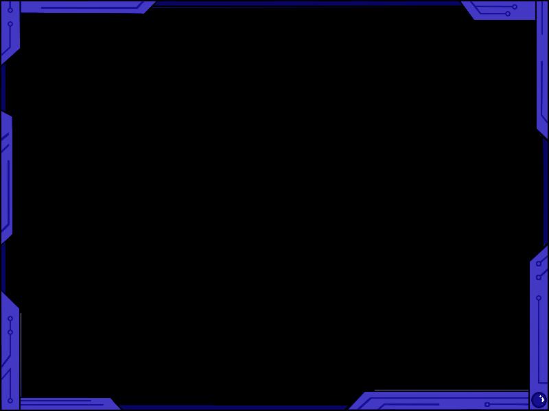 Futuristic design ver blue. Simple border png
