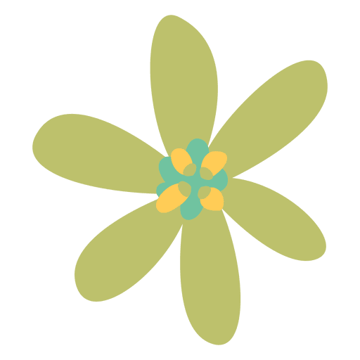 Simple flower png. Doodle illustration transparent svg