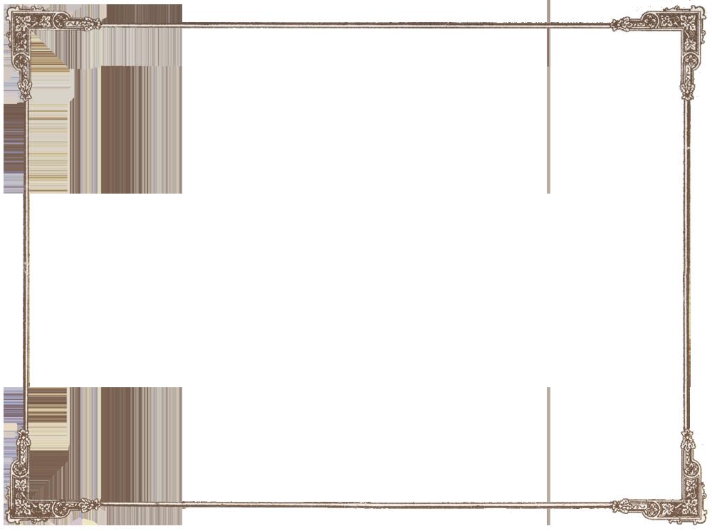 Simple frame png. Victorian vignettes