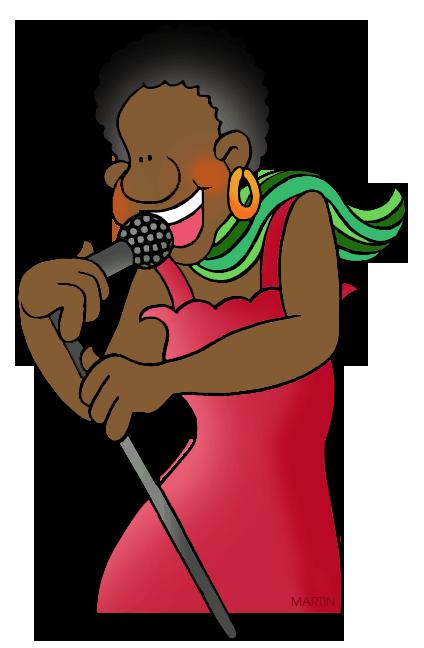Singer clipart. Art clip by phillip