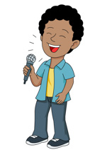 Search results for clip. Singer clipart