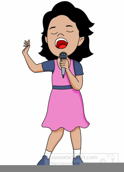 Singer clipart. Female free images at