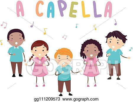 Singer clipart acapella. Vector stock stickman kids