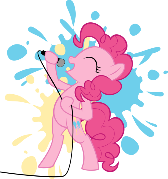 Singer clipart microphone. Image pinkie pie holding