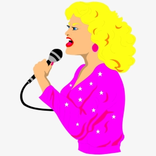 Free of singing cliparts. Singer clipart notable