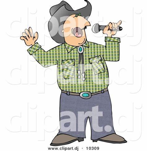 X free clip art. Singer clipart senior
