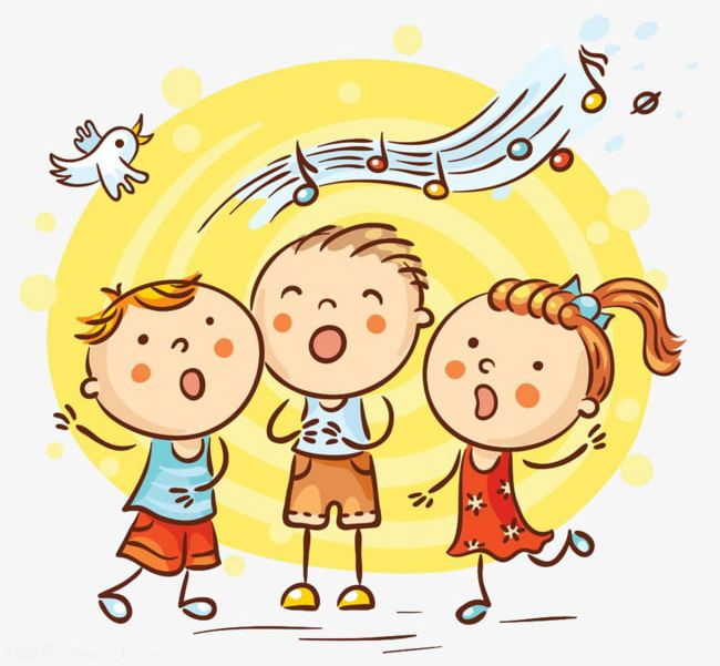 Singing children s material. Singer clipart toddler