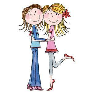 2 clipart sibling. Sisters sharing clip art
