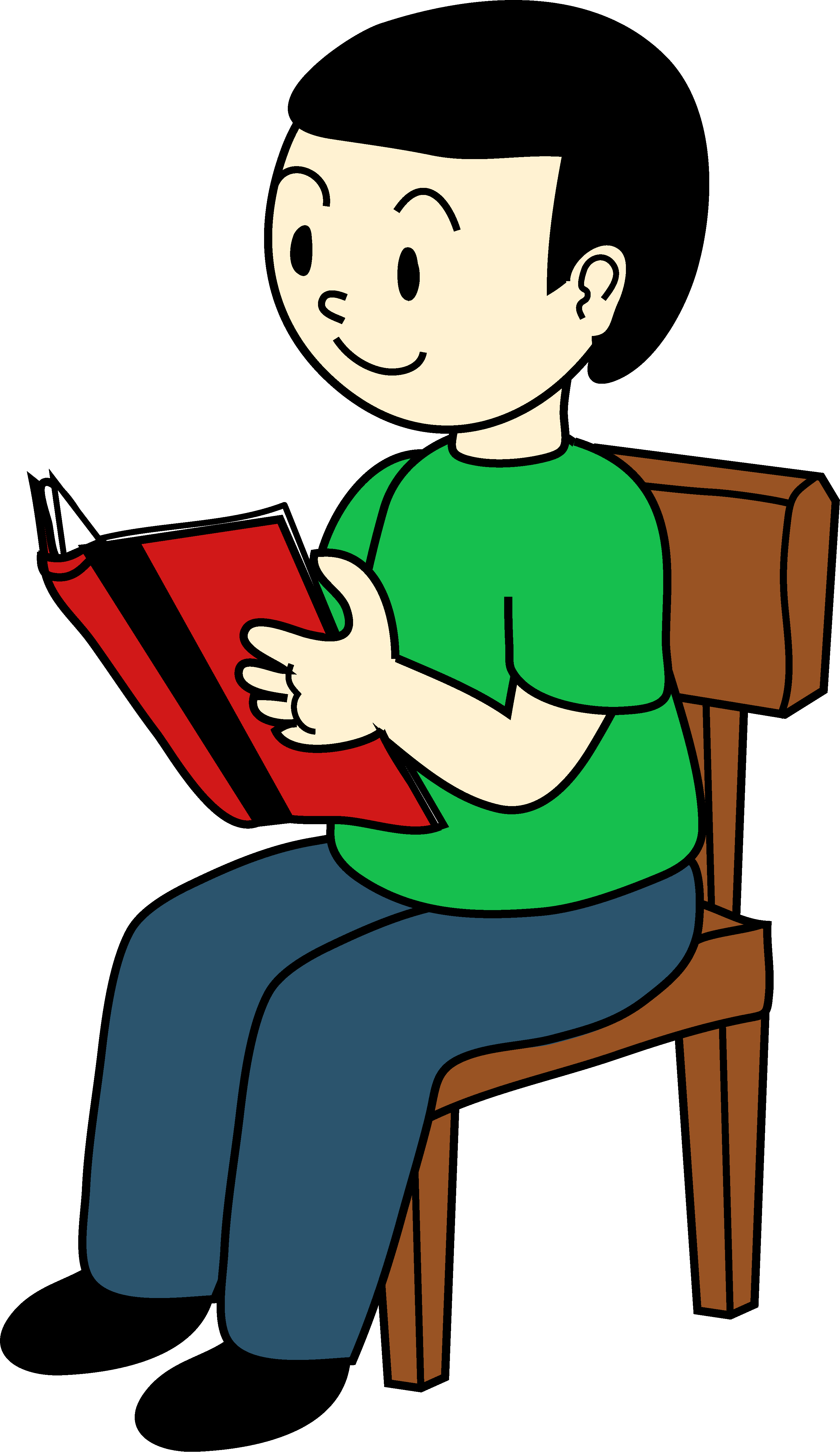 Clipart volleyball chair. Boy sitting on reading