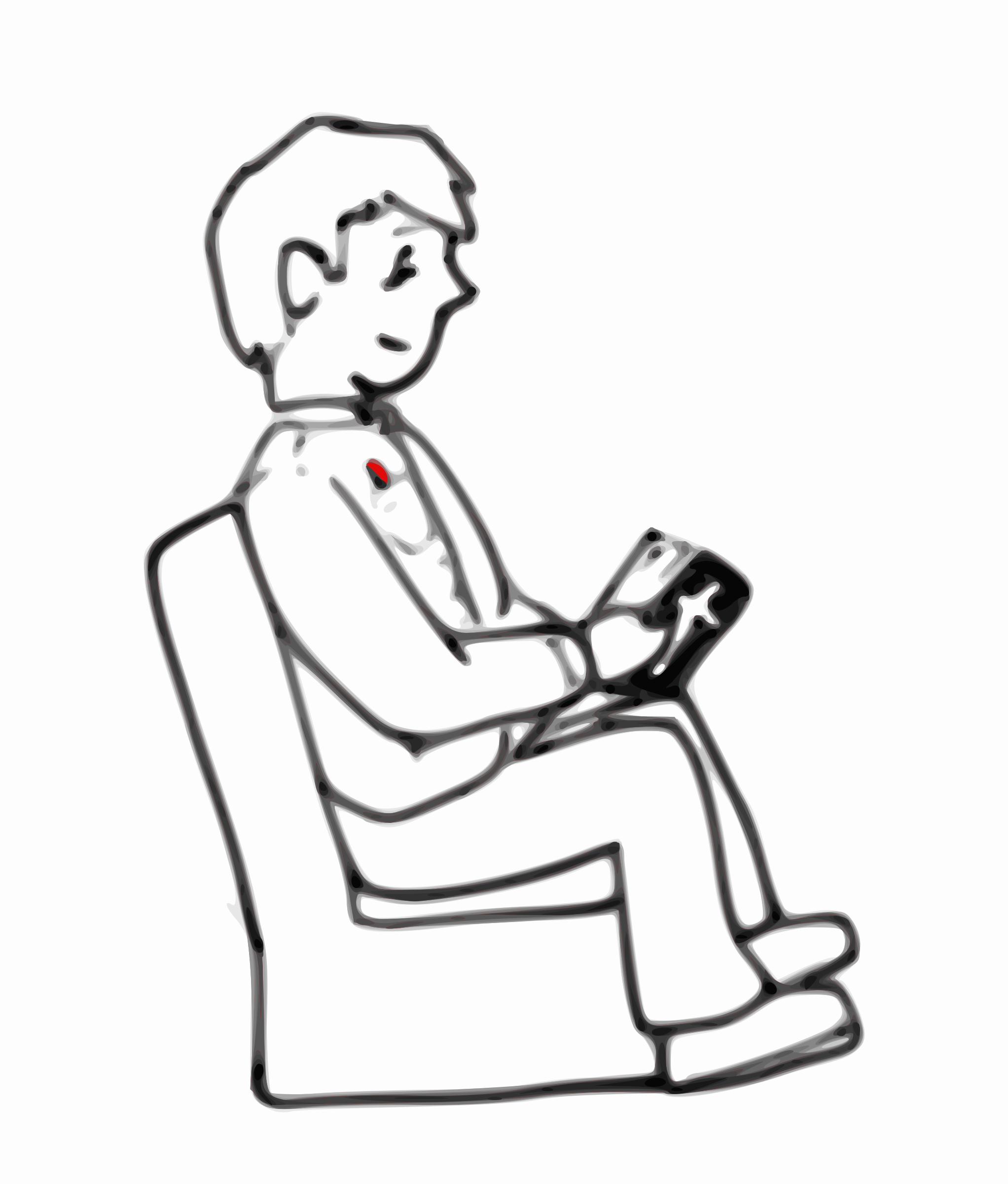Sit clipart black and white. Gclipart com
