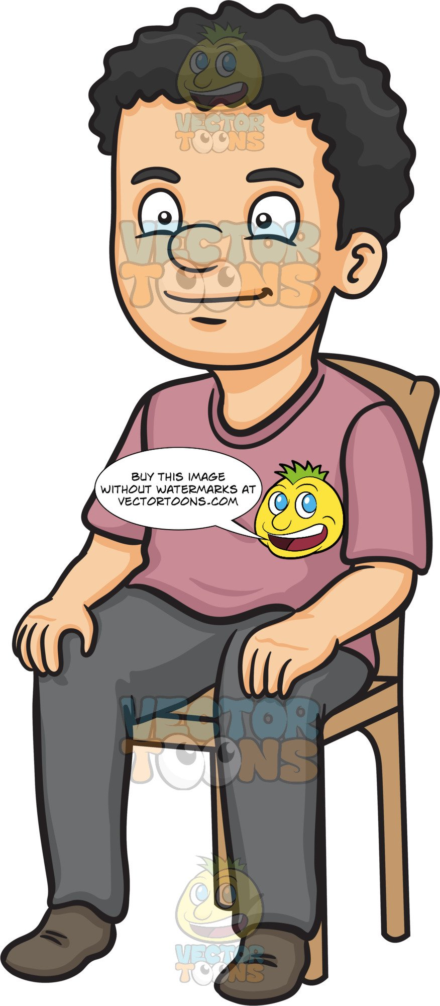 A man sitting on. Sit clipart chair