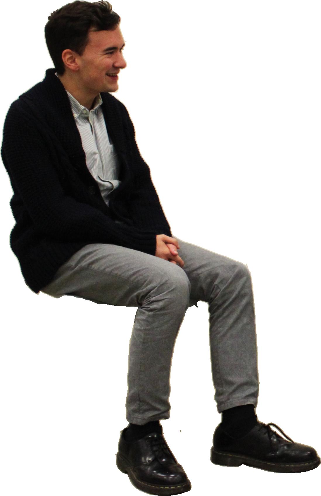 Sitting man PNG images free download
