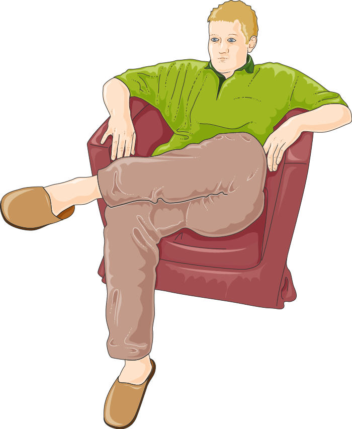 Servier medical art free. Sit clipart sedentary
