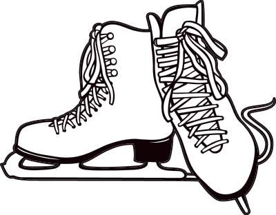 Figure skating skates are. Skate clipart