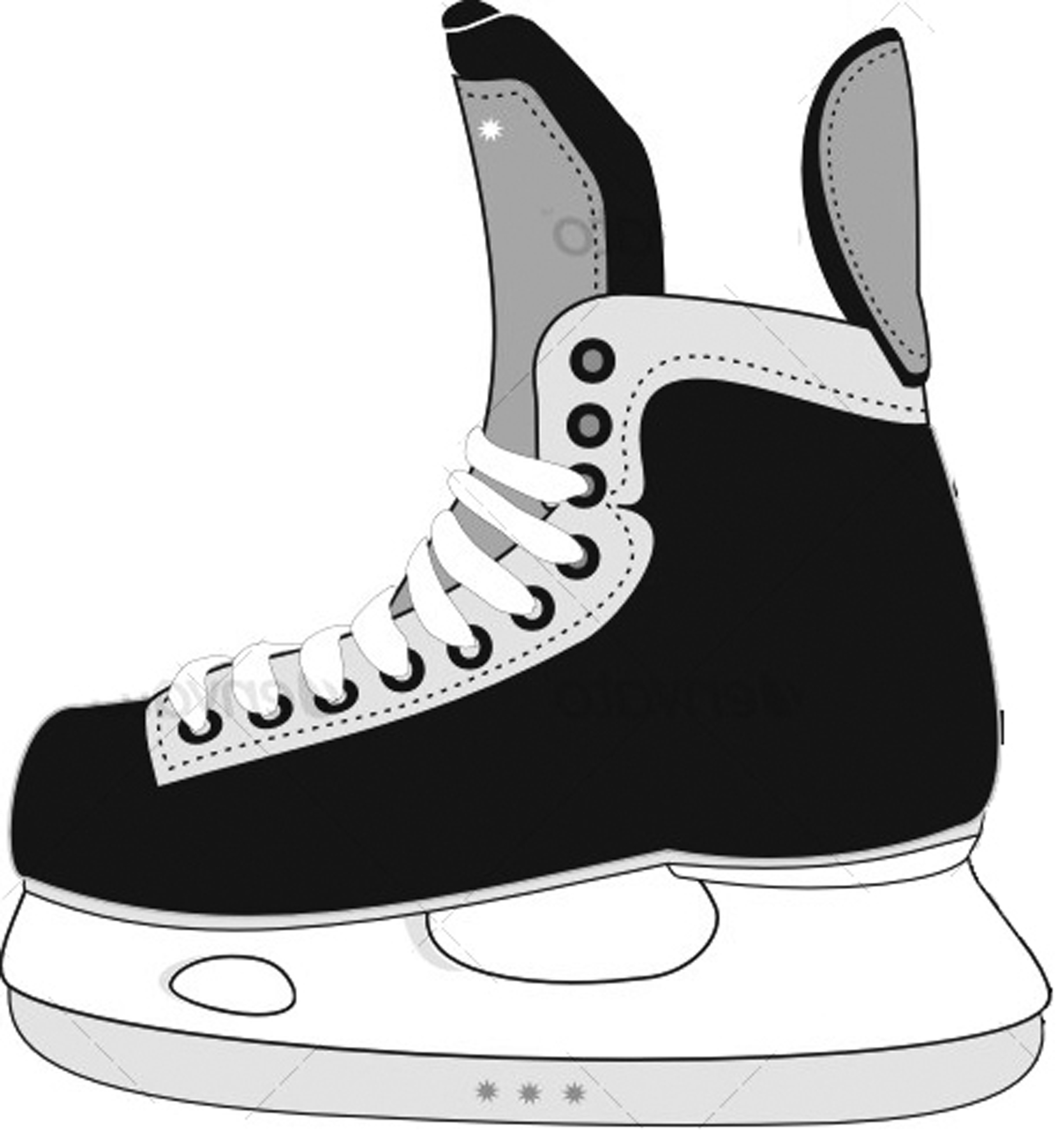 Skate clipart. Hockey