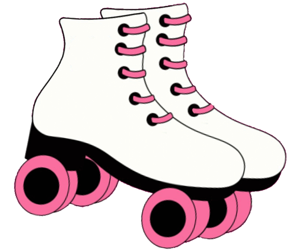 Skate clipart. Pin printable roller stencil