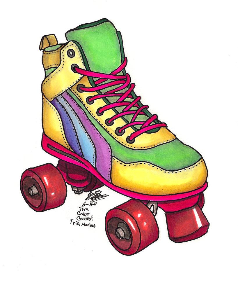 Skate clipart.  roller