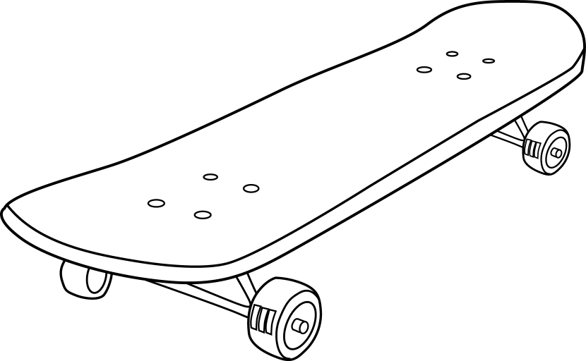 Young clipart scateboard. Free skateboard pictures clipartix
