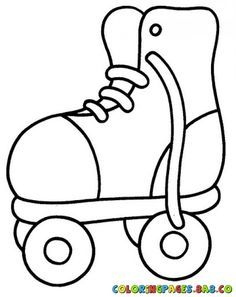 Roller coloring bus toddler. Skate clipart colouring page
