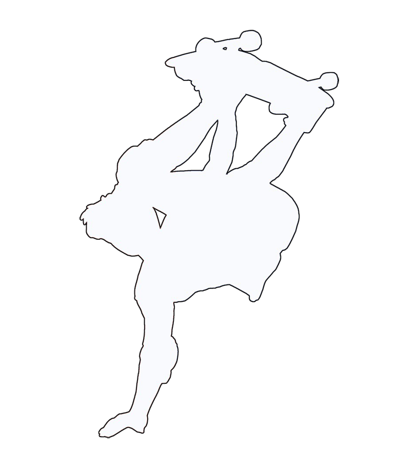 Different kinds of sports. Wrestlers clipart silhouette