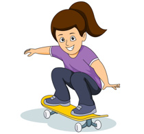 Skate clipart. Sports free skateboarding to