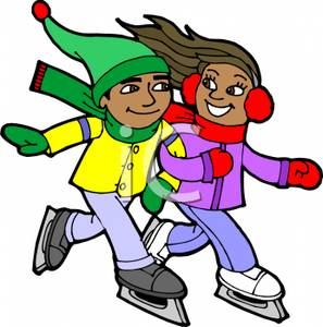 People skating . Skate clipart