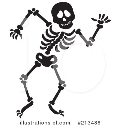 Illustration by visekart royaltyfree. Skeleton clipart