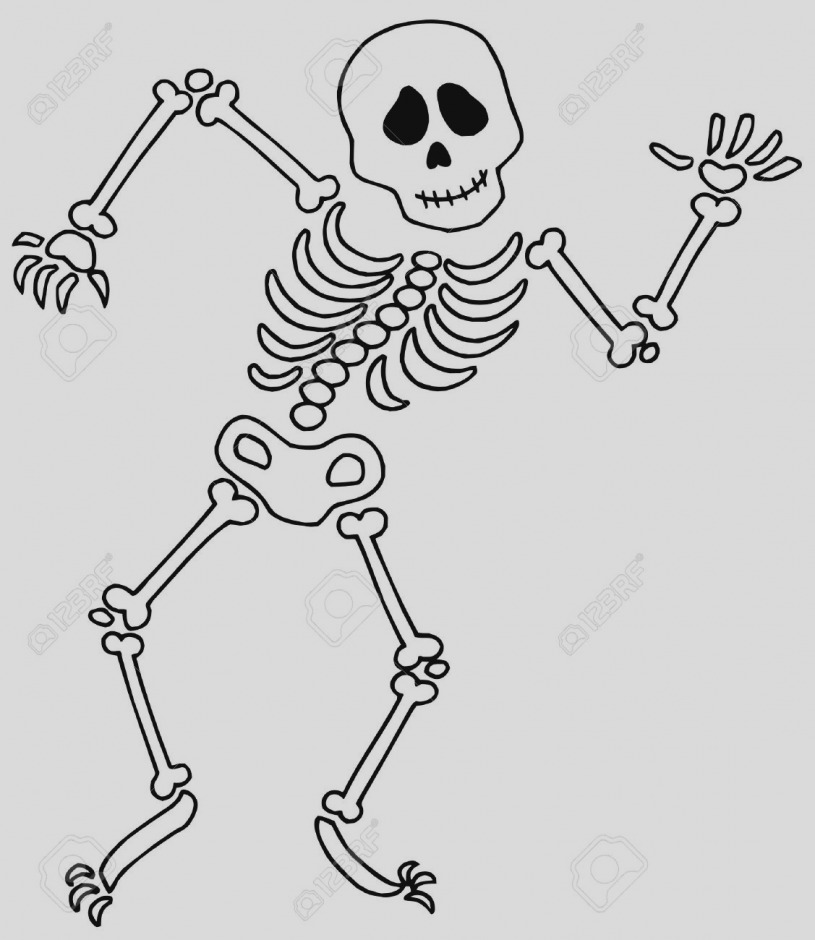 Gallery skeleton bones templates. Bone clipart clip art