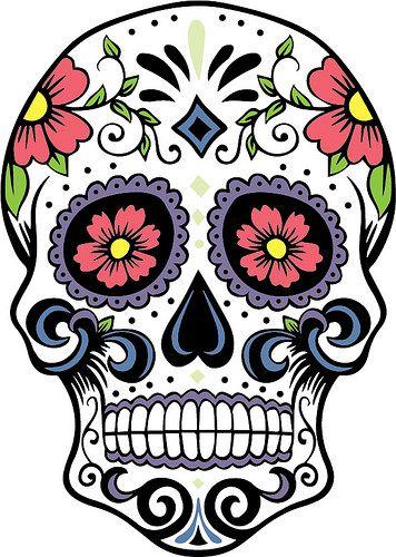 Skeleton clipart art mexican. Sugar skull silhouette stencil