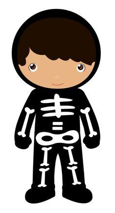 Skeleton clipart kid. For kids free download