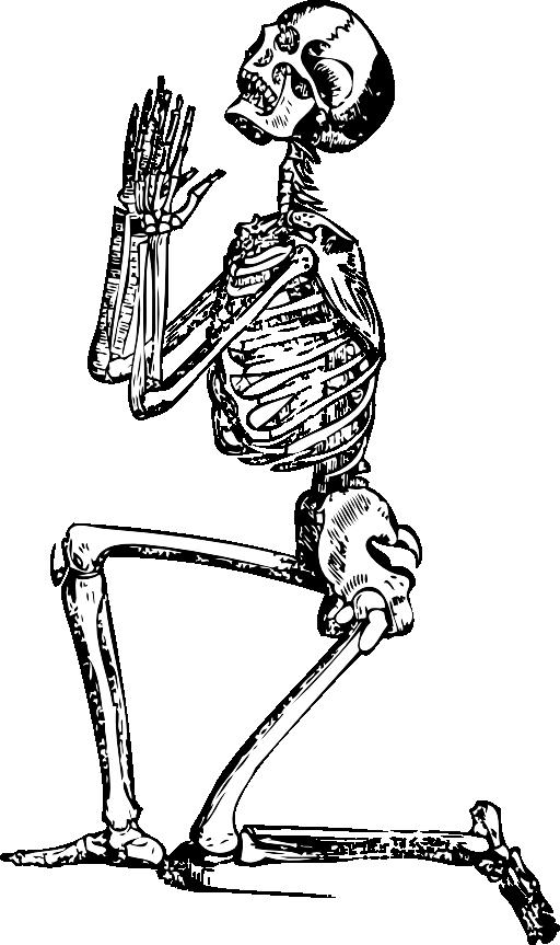 Praying Skeleton Clipart