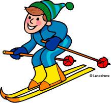 Ski clip art free. Skiing clipart