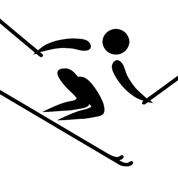 Olympic sports alpine pictogram. Skiing clipart