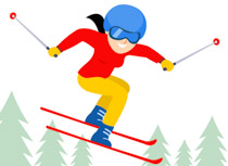 Search results for clip. Skiing clipart