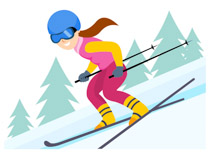 Skis clipart down hill. Search results for skiing