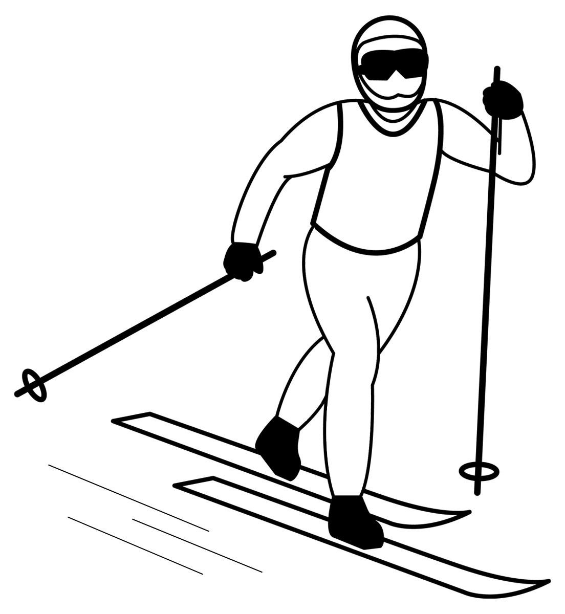 Free snow ski cliparts. Skis clipart skiing person