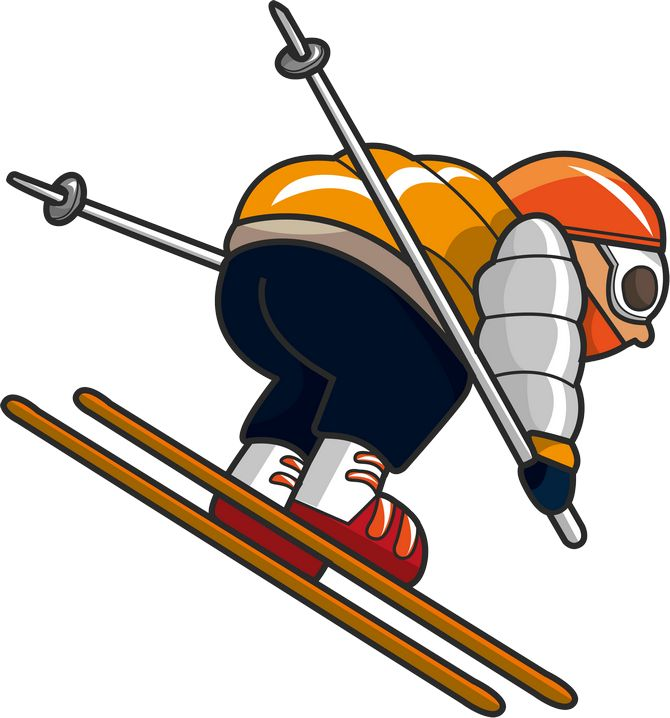 Images free download best. Skiing clipart board
