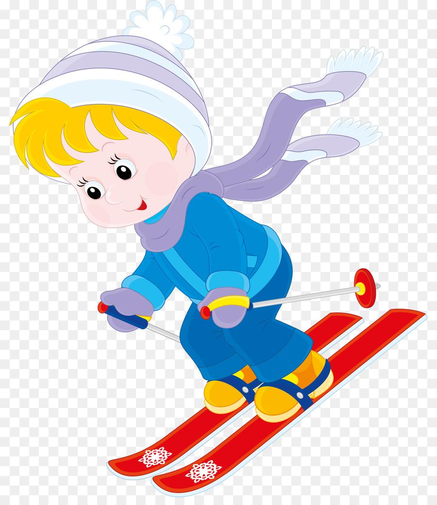 Skiing clipart child. Cartoon illustration
