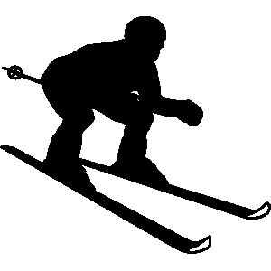 Free alpine skiing cliparts. Skis clipart down hill