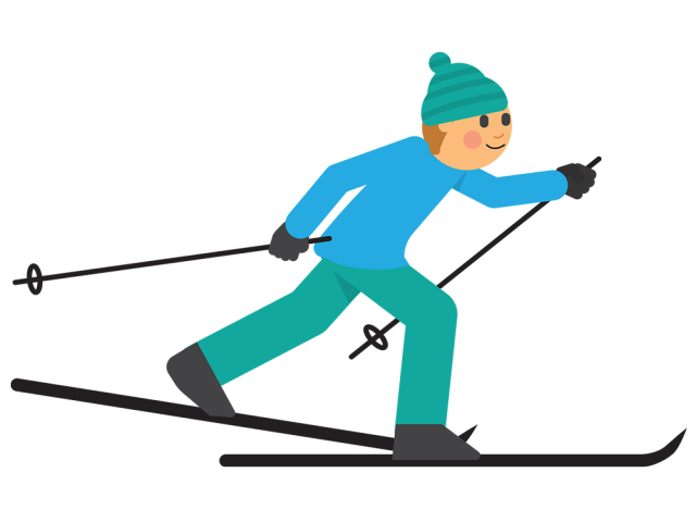 Skiing clipart family four. Free download clip art